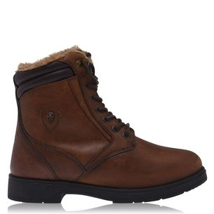 MORETTA Ottavia Ladies Lace Country Boots - Brown
