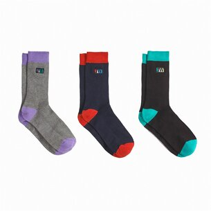 Jack Wills Elmsfield Multipack Socks 3 Pack