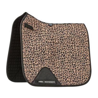 Weatherbeeta Prime Leopard Dressage Saddle Pad - Brown Leopard