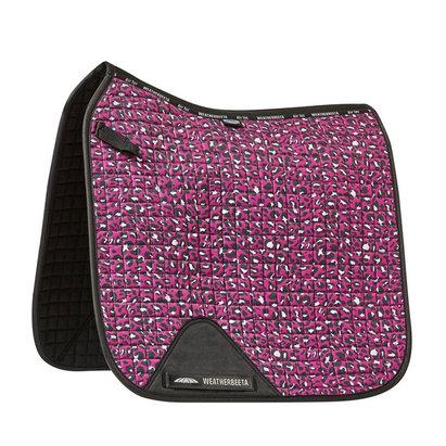Weatherbeeta Prime Leopard Dressage Saddle Pad - Pink Leopard