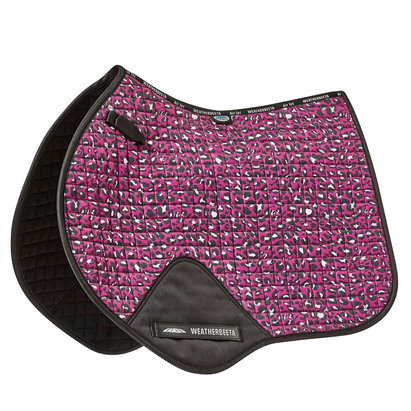 Weatherbeeta Prime Leopard Jump Shape Saddle Pad - Pink Leopard