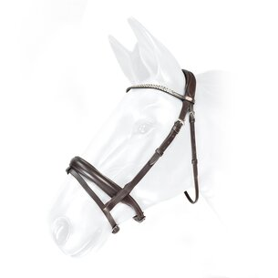 John Whitaker Barton Bling Flash Bridle - Havana