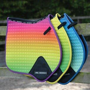 Weatherbeeta Prime Ombre Jump Shaped Saddle Pad - Rainbow Lust