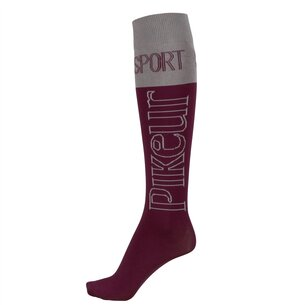 Pikeur Tube Sports Socks - Aubergine/ Light Grey