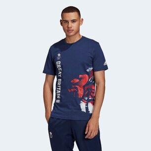 adidas Great Britain Graphic T Shirt Mens