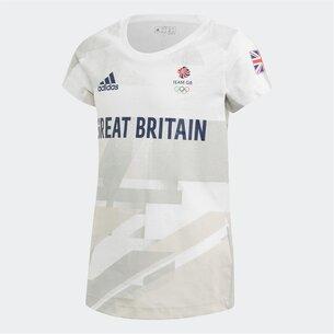 adidas Team GB Graphic T Shirt Junior