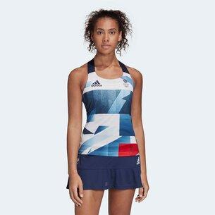 adidas Team GB HEAT.RDY Ladies Tennis Tank Top