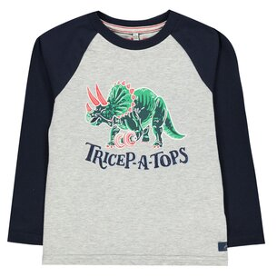 Joules Sleeve Dino T Shirt