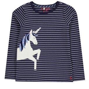 Joules Unicorn Stripe T Shirt