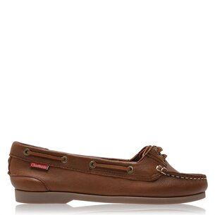 Chatham Harper Brown Premium Leather Boat Shoes