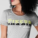 Ladies Fenny Printed T-Shirt - Grey Melange