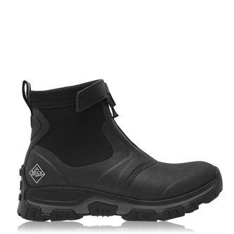 Muck Boot Mens Apex Zip Short Boots - Black