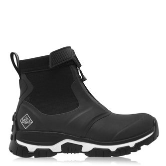 Ladies Apex Zip Short Boots - Black/White