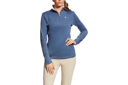 Sunstopper 1/4 Zip Ladies Top - Blue Flint