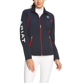 New Team Soft Shell Ladies Jacket - Navy