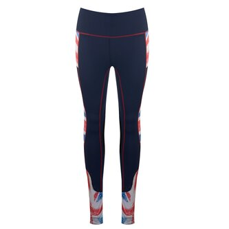 Limited Edition Union Jack Ladies Riding Tights - Navy/Red