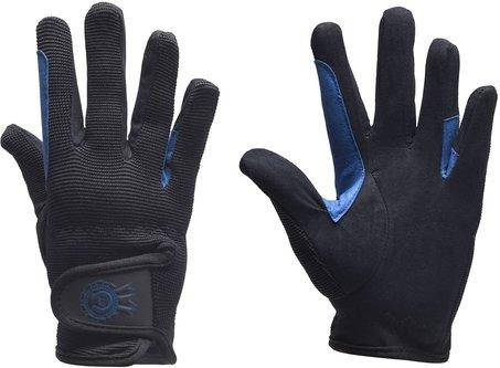 Rosette Junior Riding Gloves - Black/Royal