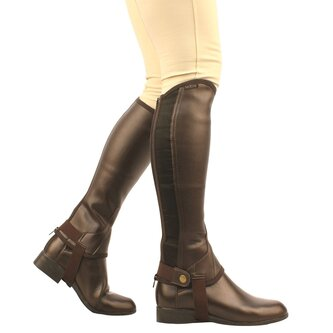Equileather Childs Half Chaps - Brown