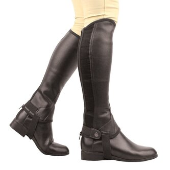 Equileather Half Chaps - Black