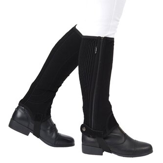 Easy Care Childs Half Chaps II - Black