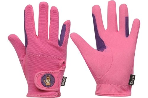 Childrens Riding Gloves - Pink
