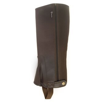 Ladies Synthetic Half Chaps - Brown