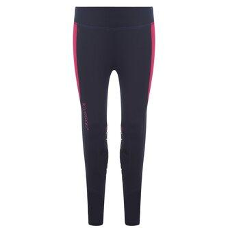 Ladies Riding Leggings - Navy/Pink