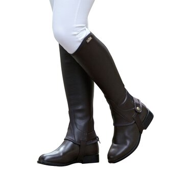 Equileather Childs Half Chaps - Black