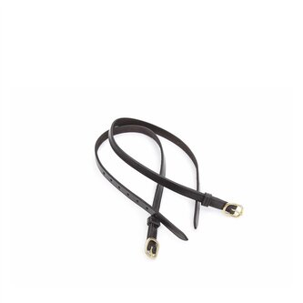 Child Leather Spur Straps - Black