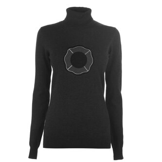 Charcoal Roll Neck Jumper Ladies