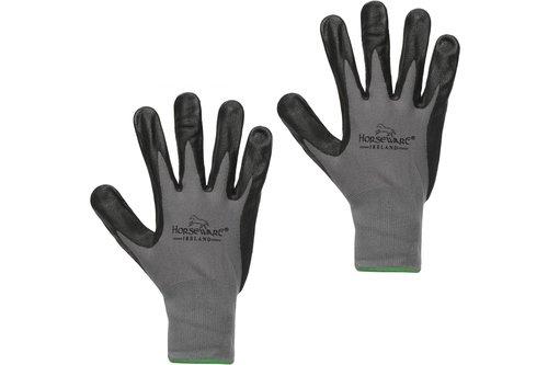Coated Dot Grip Gloves - Grey/Black