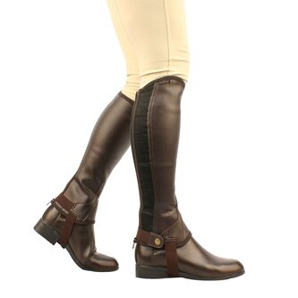 Equileather Half Chaps - Brown