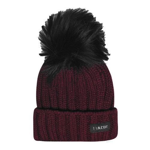 Knit Bobble Hat Ladies
