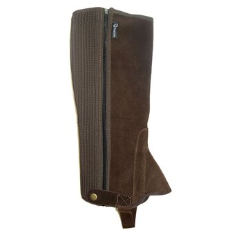 Childrens Suede Half Chaps - Brown