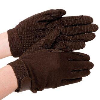 Cotton Grip Ladies Riding Gloves - Brown