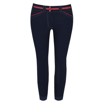 Team Heritage Elite Grip Knee Patch Ladies Breeches - Navy