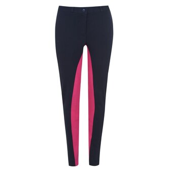 Two Tone Ladies Jodhpurs - Navy/Pink