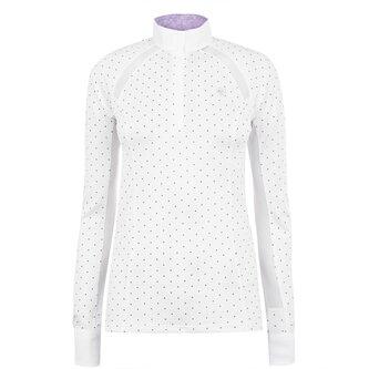 Sunstopper Pro 2.0 Ladies Show Shirt - White/Plum Grey Dot