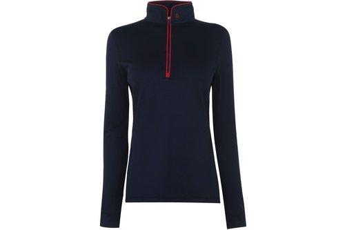 Kylee Ladies Long Sleeve Zip Top - Navy