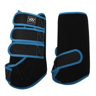 Dressage Wrap Boots - Black/ Powder Blue