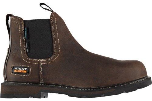 Groundbreaker Waterproof Steel Toe Mens Work Boots - Dark Brown