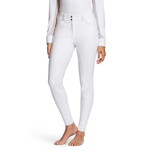 Ladies Tri Factor Grip Full Seat Breeches - White