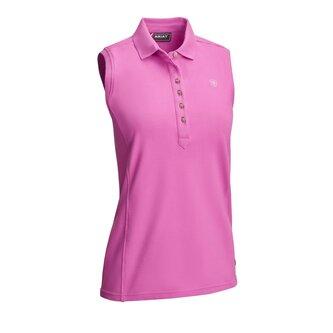 Ladies Prix 2 Sleeveless Polo Shirt - Meadow Mauve