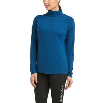 Auburn Long Sleeve Zip Top Ladies