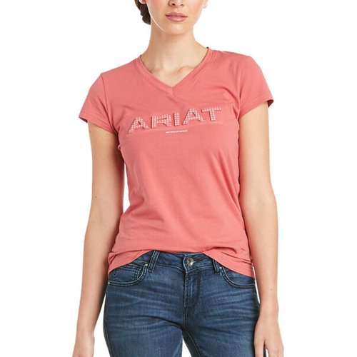 3D Logo Short Sleeve T Shirt Ladies