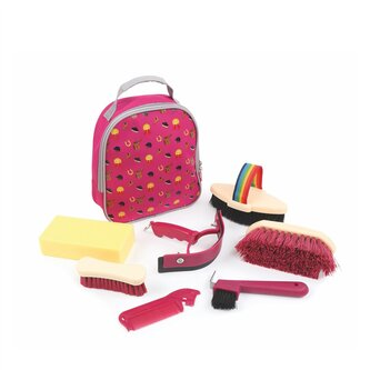 Tikaboo Grooming Kit Bag - Raspberry