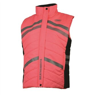 Ladies Reflective Quilted Gilet - Pink
