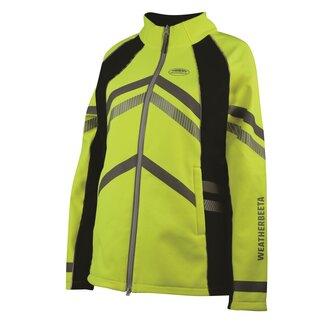 Ladies Reflective Softshell Fleece Lined Jacket - Yellow