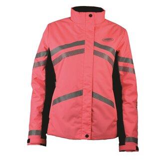 Ladies Reflective Heavy Padded Waterproof Jacket - Pink