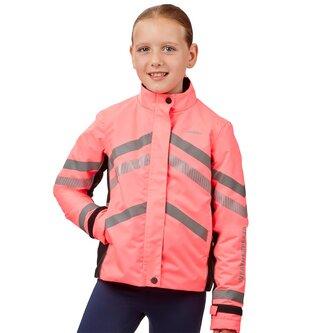 Junior Reflective Heavy Padded Waterproof Jacket - Pink